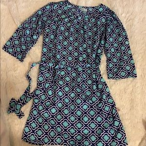Adorable teal and navy dress